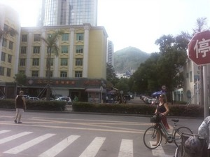 Relaxed tourist area around Shekou