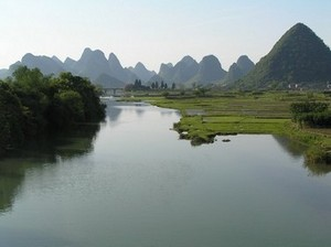 The Yulong River near Yangshuo